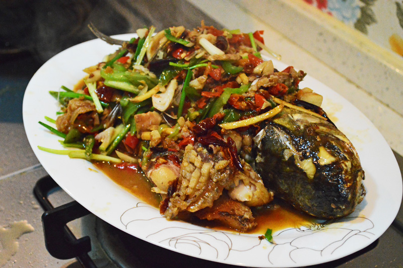 Chinese spicy fish Hunanese style