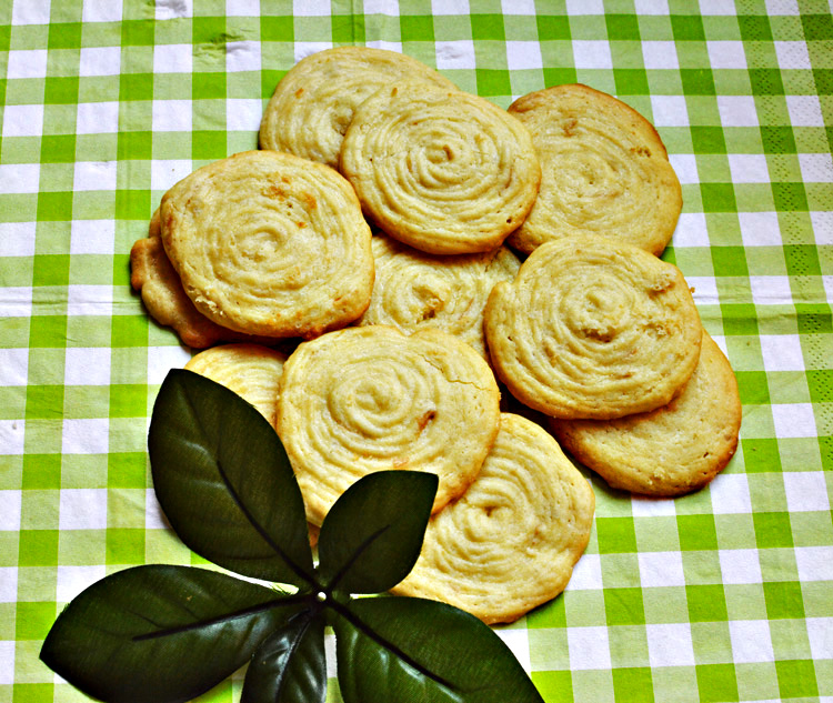 Rose flavoured rose cookies