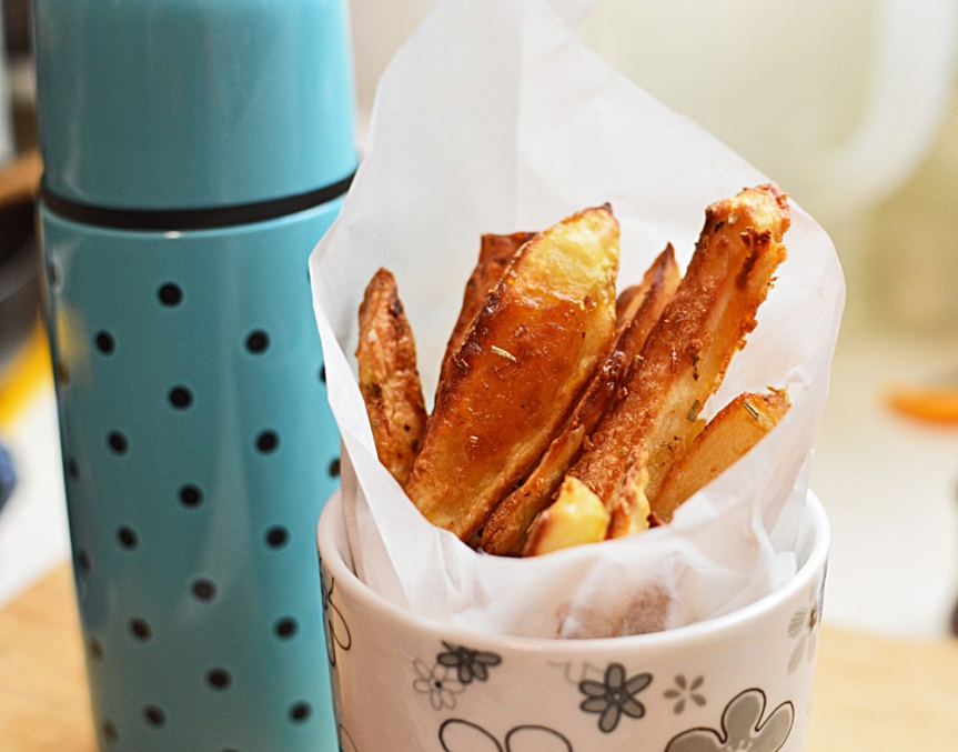 Baked potato fries