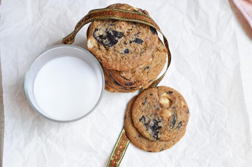 Double chocolate chunkcookies