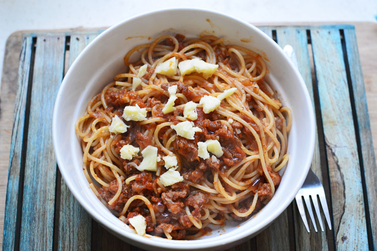 Tomato & chorizospaghetti